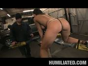 Gushing girl gets fucked in garage! at 5ilthy