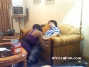 Sassy African whore gives interracial blowjob in hotel room at 5ilthy