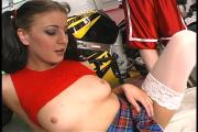 Kinky Schoolgirl Screws Older Guy In Garage 