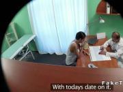 Russian babe fucks doctor till orgasm