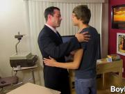 Blake Allen sits back on his teachers hard dick