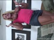 Loose Blonde Body-Builder Vixen Craves That Sex Toy