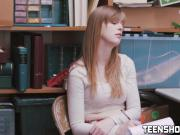 This teen needs a stiff pole in order to be punished hard