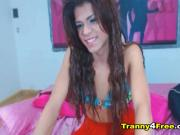 Hot Brazilian Tranny on Cam