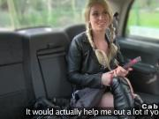 Blonde spanked and fucked in fake taxi