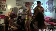 College Babes Get Wild At A Party