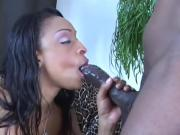 Black Chick Cums Over One Big Boner