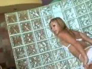 Slutty Blonde Handjob