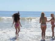 Lucky lifeguard fucks bikini teens