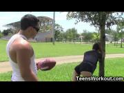 Football Teen Girl Destroyed by the Coach!