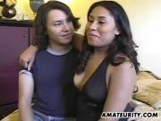 Hot amateur Asian girlfriend sucks and fucks
