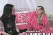 Two Teens Get Lezzie For Their Very First Time With A Strap-On
