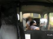 Busty plumper fucks in fake taxi
