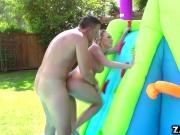 Kagney Linn Karter fucks outdoor hard doggystyle