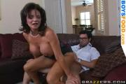 Busty Mom Riding Cock
