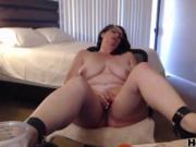 horny mommy using the dildo