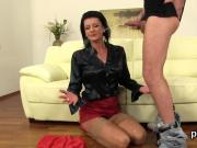Surprised idol in lingerie is geeting pissed on and penetrated