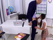 Erotic schoolgirl is seduced and penetrated by her senior teacher