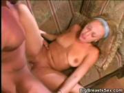Blonde Cheerleader Has Big Tits