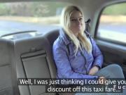 Blonde banged in uk cab till facial