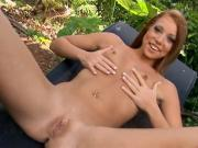 Small-Chested Brunette Slut Bangs These Long Hard-Ons Outdoor