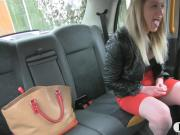 Pretty amateur blonde babe sucks off and pounded in the cab