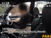 Busty blonde slut Chessie sucks and fucks a horny cop