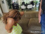 Ebony Hottie Annabelle Rey Blows Her Sisters Friend