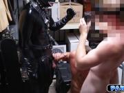 Gimp blowjob and anal fucking session