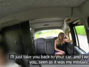 Busty uk blonde bangs in fake taxi