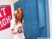 Sweet Redhead Scolded By Coach