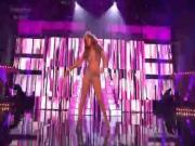 Gorgeous Singer Sings On Stage Seductively