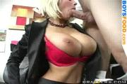 Blonde Does Blowjob