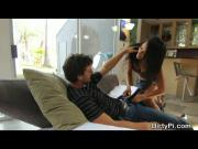 Cheating Wife Played By Layla Sin Sucking Dick On Sofa