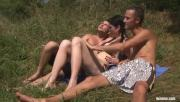 Sun-Kissed Bisexuals Have Sex Picnic By The Lake