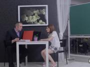 Elegant schoolgirl is seduced and nailed by her senior teacher