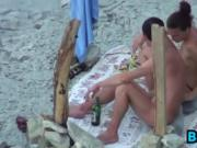 Chick Giving Head At The Beach