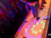 Naughty teenies get entirely crazy and undressed at hardcore party