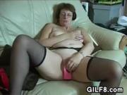 Grandma Masturbating With Toys