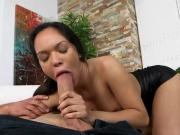 Latin Chick Emily Mena Sucks BF And Gets Fucked