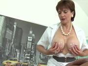 Unfaithful british milf lady sonia exposes her monster jugs