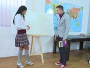 Fervent college girl is seduced and nailed by her older schoolteacher