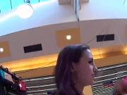 Stellar czech chick was seduced in the shopping centre and rode in pov