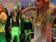 Foxy girls get completely wild and nude at hardcore party
