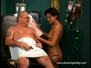 Hungry Bitch Is Fucked By One Mature Dude