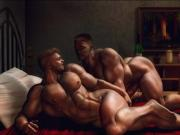 3D Dominant Men Fuck Straight Muscle Boys!