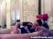 Amateur Arab couple kissing jerking fingering