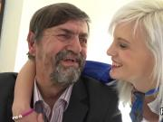 Sultry schoolgirl gets teased and fucked by her elderly lecturer