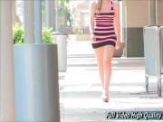 Summer girls upskirt in Public