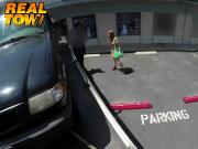 Redhead babe giving a great blowjob so she doesnt get towed